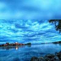 Reflection of the sky on the water. (Kotka, Finland)